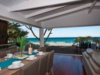 Open plan dining with ocean views