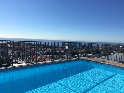 Stunning views from rooftop pool