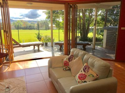 Living room with access to Verandah