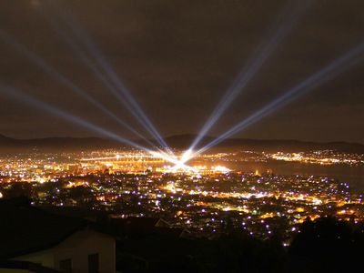 Night View watching Dark MOFO Laser Show 2016
