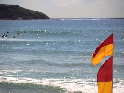Swim between the flags on patrolled Dee Why beach