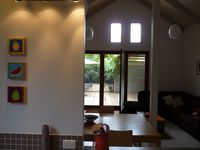 View from Kitchen through lounge to courtyard