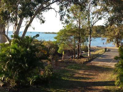 walk to boat ramp and sandy beach