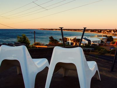 Sit on the sundeck & take in the spectacular views of the city & entire coast