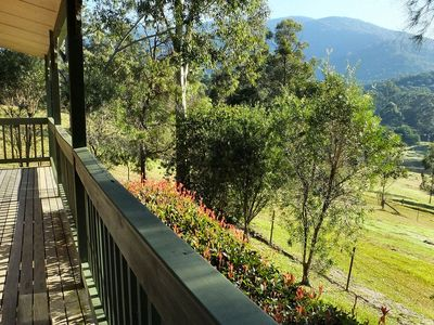 View from the veranda overlooking the property and beyond ...