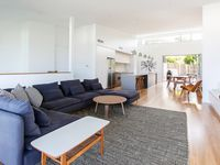 Vast Open Plan Living, Dining and Kitchen with Soaring Ceilings