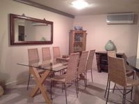Dining adjoins living area