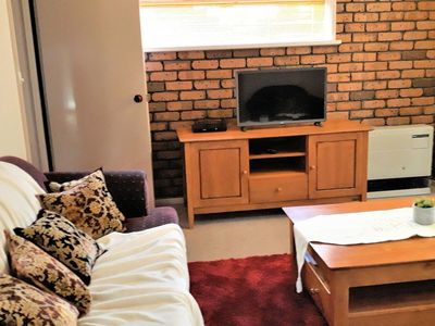 Lounge and LG smart TV with variety of programs, internet Ethernet and WiFi