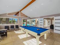 Pool table in games room