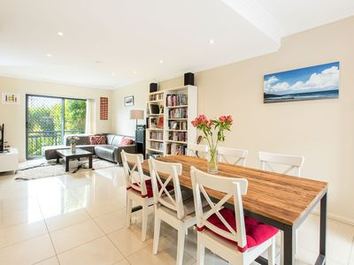 Sunny open plan living dining area