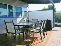 Rear deck with BBQ