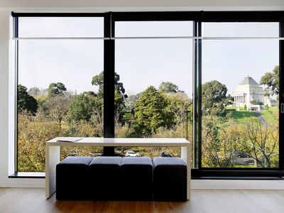 Floor to ceiling windows to maximise the view