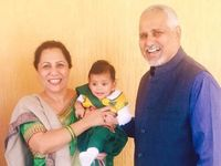 Your Hosts-Rekha & Shekhar with Grand daughter ANJALI