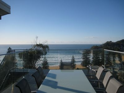 Main balcony has a fantastic view of South Avoca, the ocean, and south headland