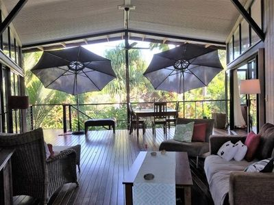 The tropical outdoor area where you can lounge and enjoy the tropics in comfort