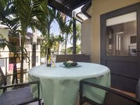 A relaxing breakfast or an evening glass of bubbles on the balcony
