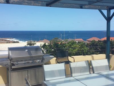 Great views – Whales / Glass top table / 4 Burner BBQ / Outdoor heater