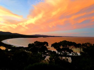 Sunset over Binalong Bay