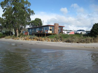 """""""Southport Sound"""" Beach Shack right on the waters edge"""