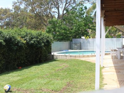 Level Yard and Pool Area