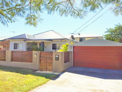 Street frontage - fully fenced with secure locked gate and garage