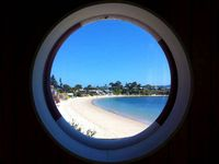 Opossum Bay Beach from the porthole