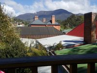Romeo /Juliet balcony from upstairs bedroom - looking at Kunanyi (Mt Wellington)