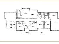 Floor Plan showing 6 bedrooms and living area