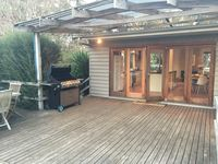 Deck view into kitchen/dining