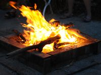 Camp fires are located in the main BBQ areas