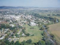 Aerial view of the property and Mudgee township