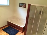 Bathroom with seperate shower, bath and toilet