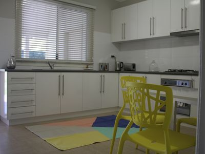 Large Kitchen with extendable dining table and 4 chairs