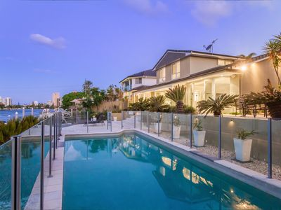 Stunning north facing pool and alfresco entertaining on the waters edge
