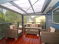 Upstairs Deck with patio blinds