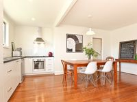 clean kitchen and dining room