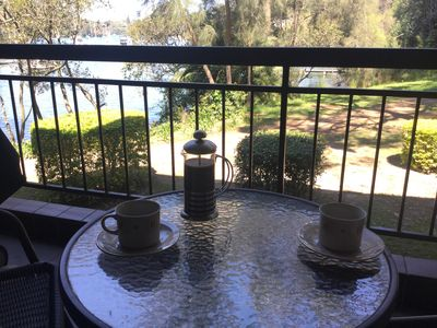 Relax with a coffee on the balcony