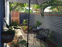 Relax outdoors in the secluded garden