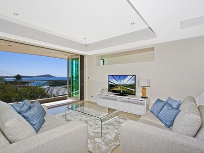 Open plan living spaces with views