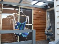 Second veranda with two hammock chairs