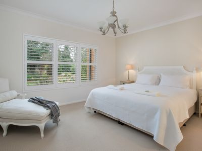 The light and airy master bedroom