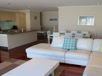 Large, bright open plan living/dining space