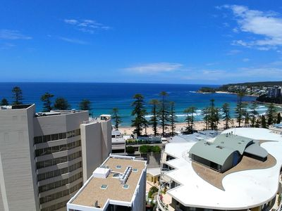 Stunning views over the heart of Manly, Manly Beach and towards Shelly Beach