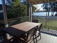Large Deck and outdoor seating with views