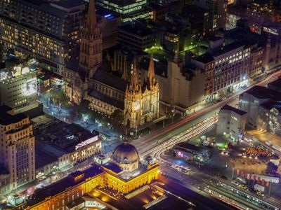 Flinders Street Station and St Paul's Cathedral 2 min walk from the site