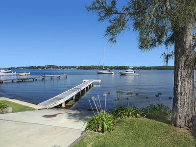 water front just a few steps jetty and moorning