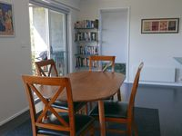 Dining area leads to Deck