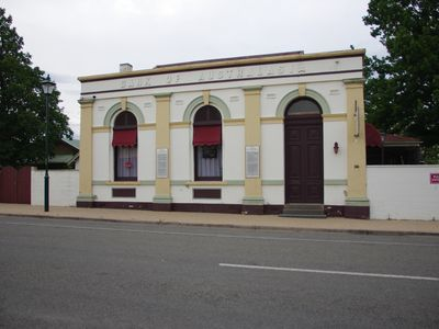 """Front Street View - Heritage Listed Building former """"Bank of Australasia"""""""