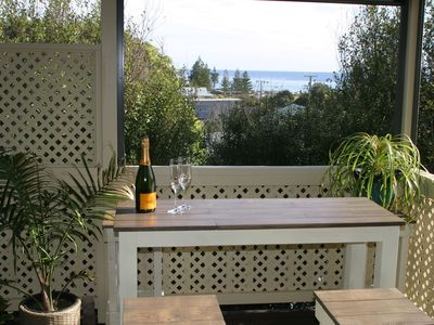 Delightful sea views on your own private deck, with BBQ.