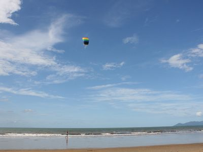 Flying Kite on the beach